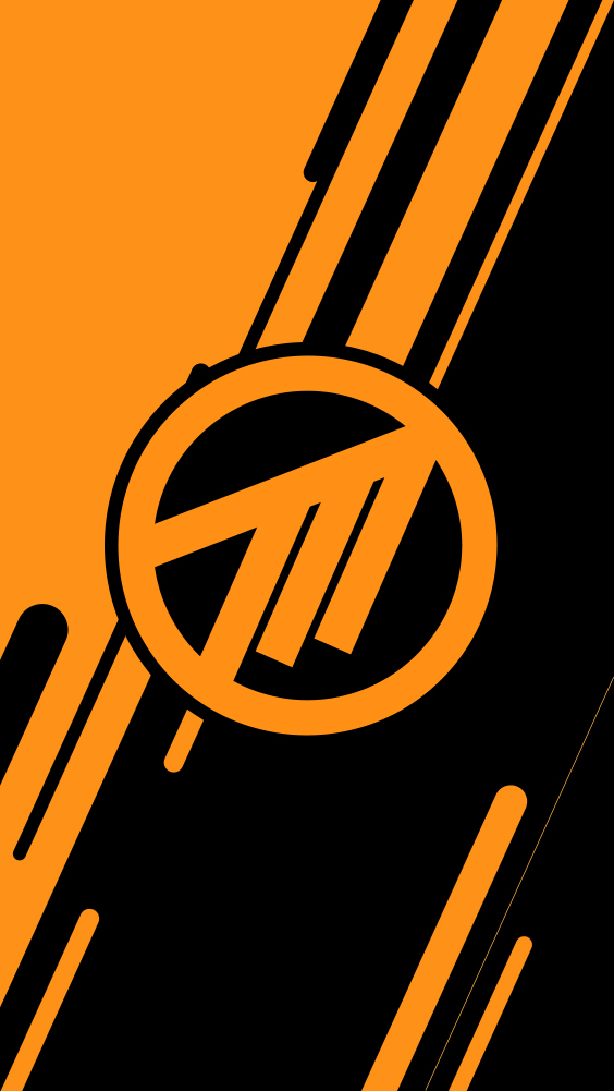 Orange Method Logo Phone Wallpaper