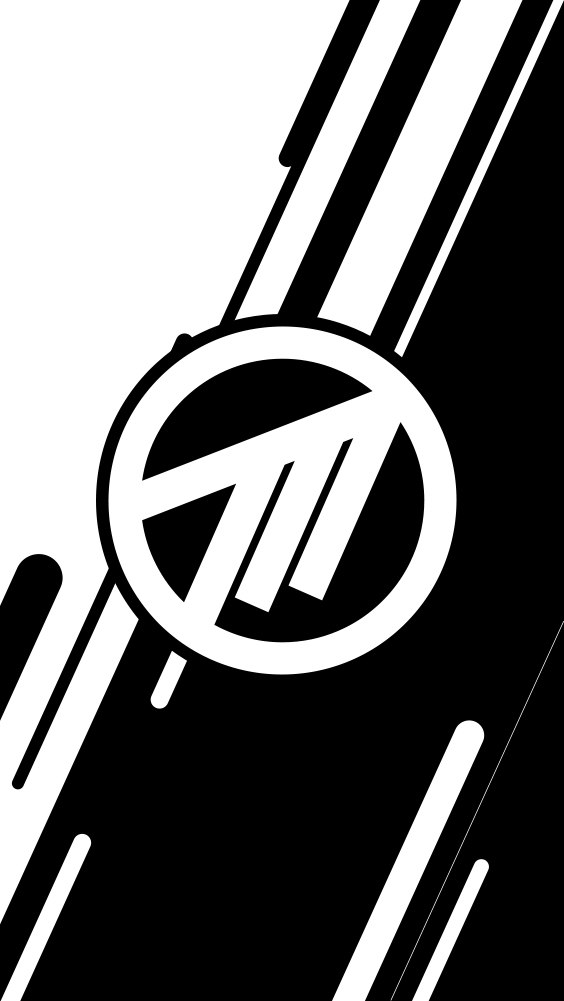 White Method Logo Phone Wallpaper