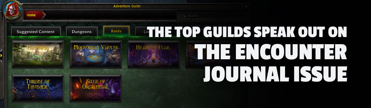 The Top Guilds Speak Out on the Encounter Journal Issue