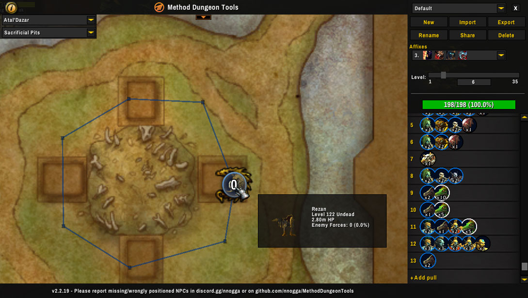 Method Mythic Plus dungeon planning tool