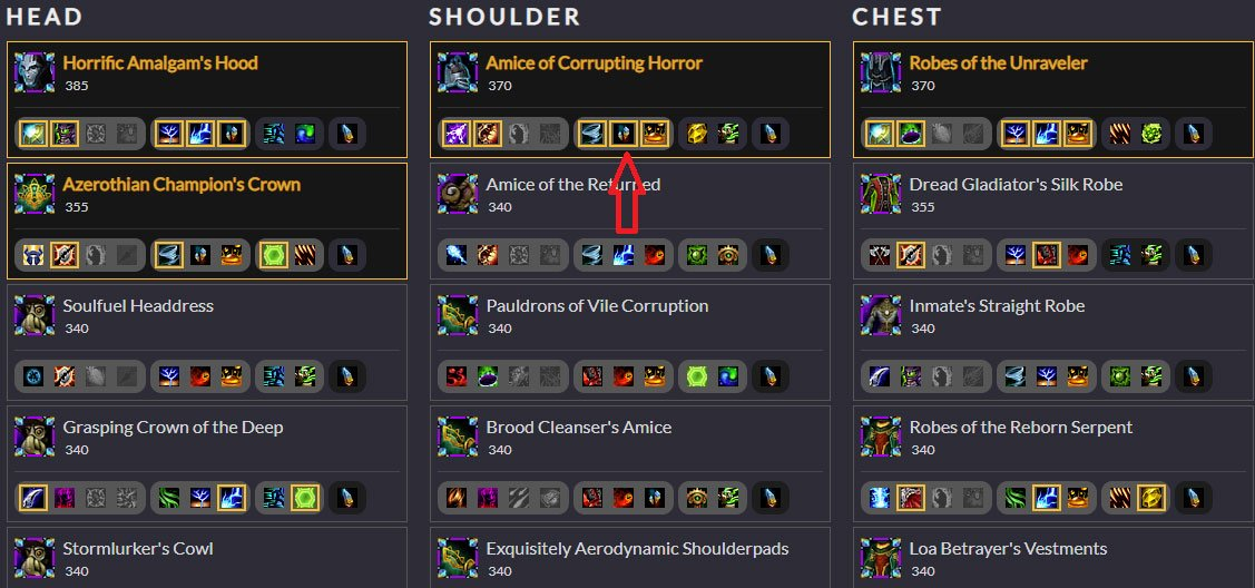 Raidbots Azerite Trait Picking